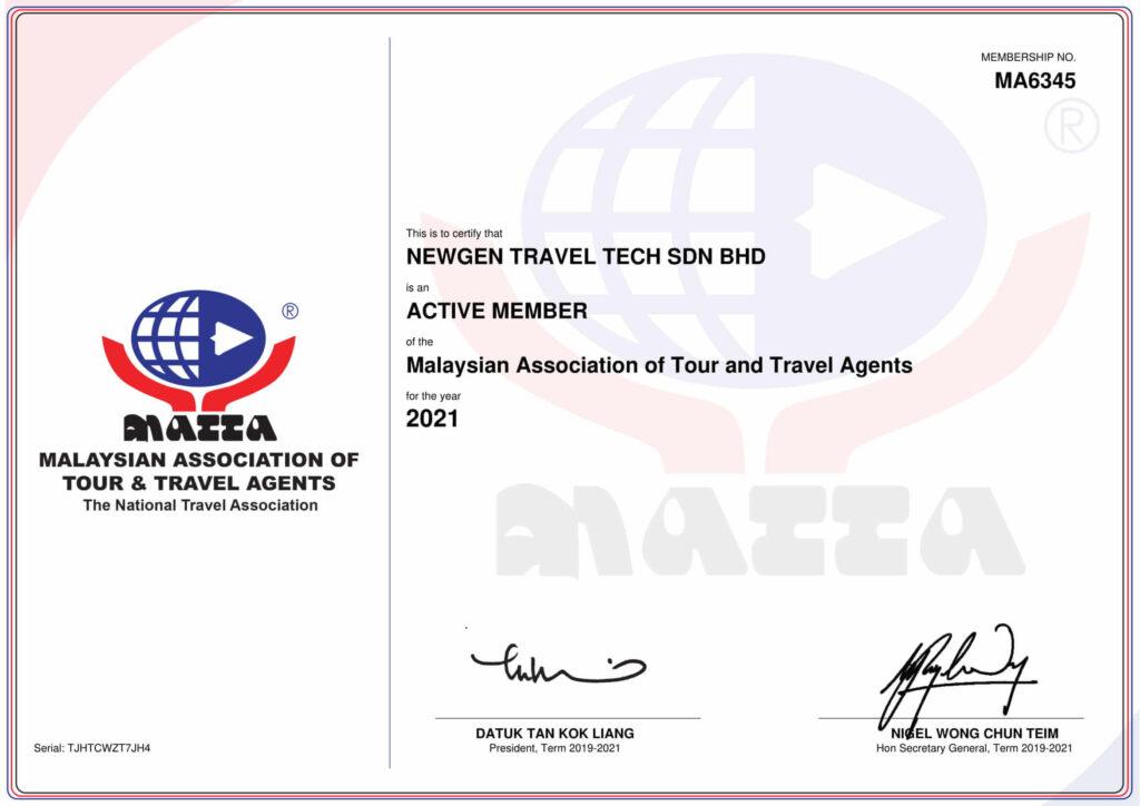 MATTA-Member-Cert-MA6345 2021